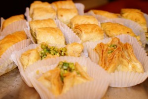 Pasteles árabes en Vincet Café Sevilla