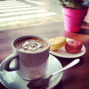 Café en CupCakes & Go de Puerta Osario, Sevilla