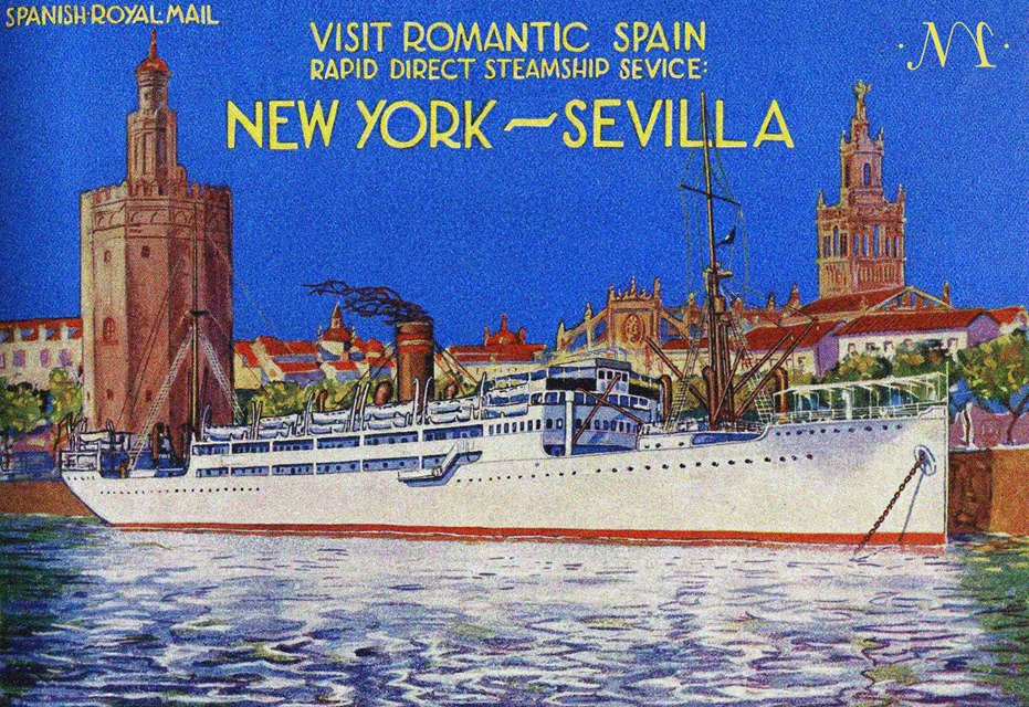 Cartel-Cruceros-New-York-Sevilla