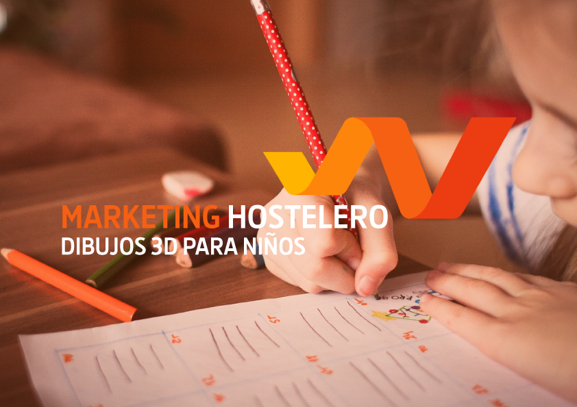 Marketing hostelero. Dibujos 3D para niños