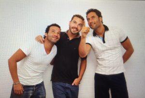 Pedro Edamame, Jesús Rosendo y Manuel Adame