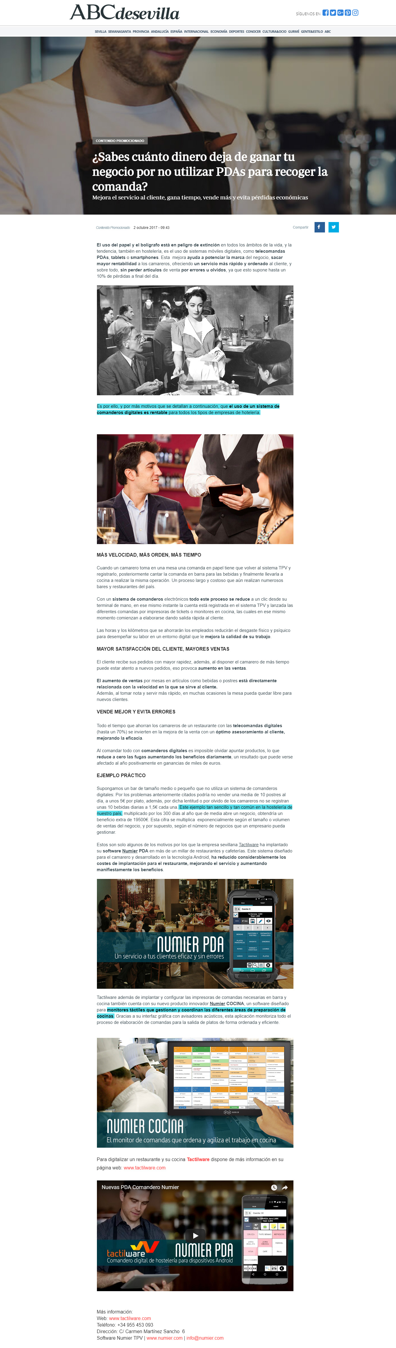 ABC SEVILLA GURME Recorte Prensa ABC