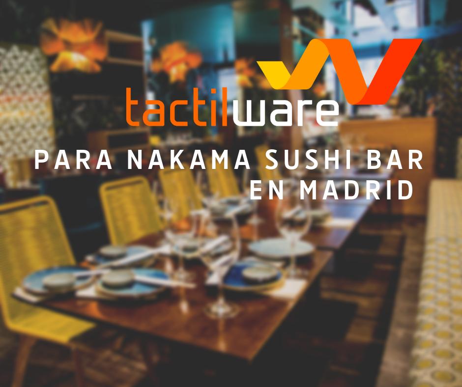 Nakama Sushi Bar, restaurante de cocina japonés «no tradicional» en Madrid (Las Rozas y Calle Sagasta)
