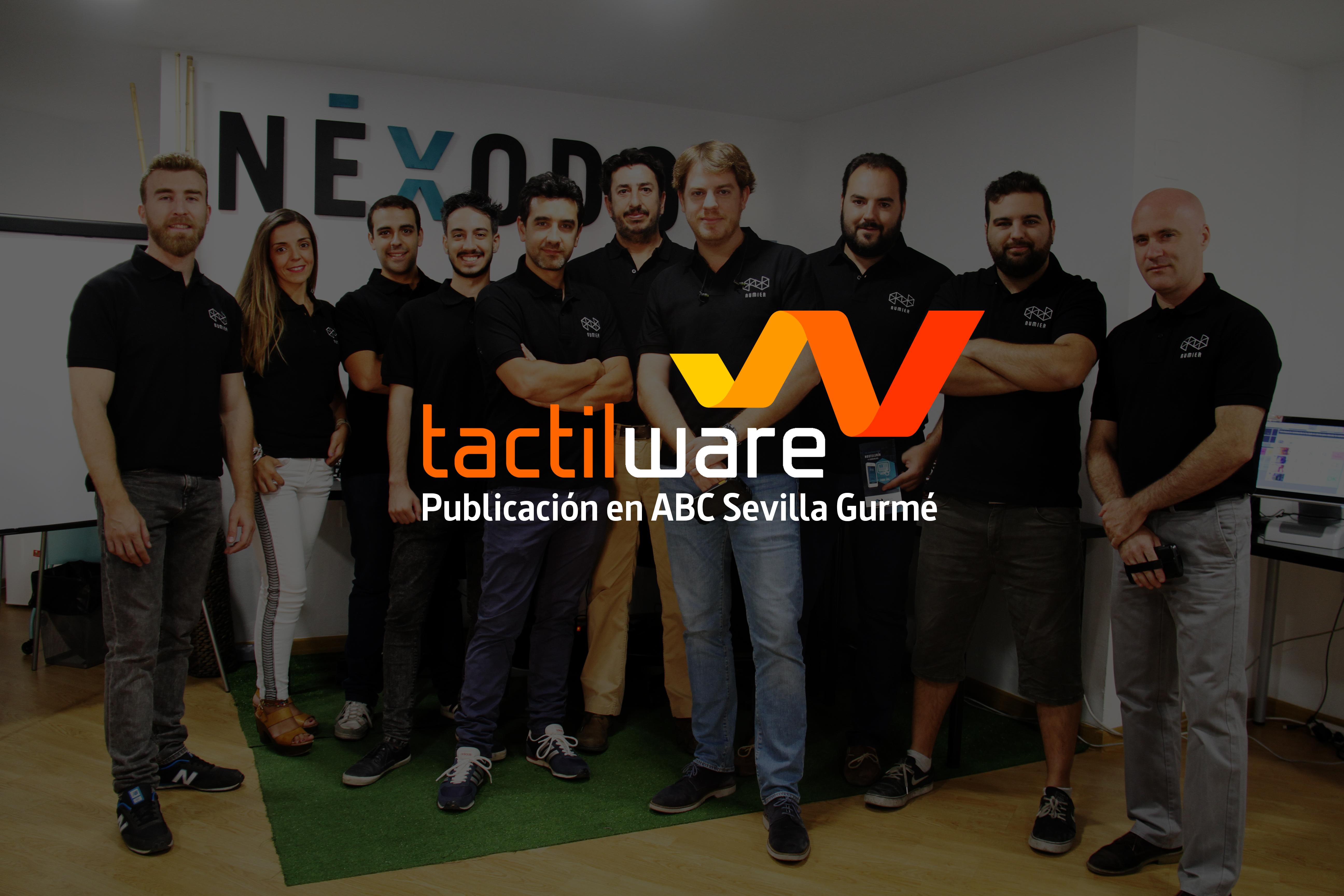 Publicación de Tactilware en el periódico ABC, portal Gurmé