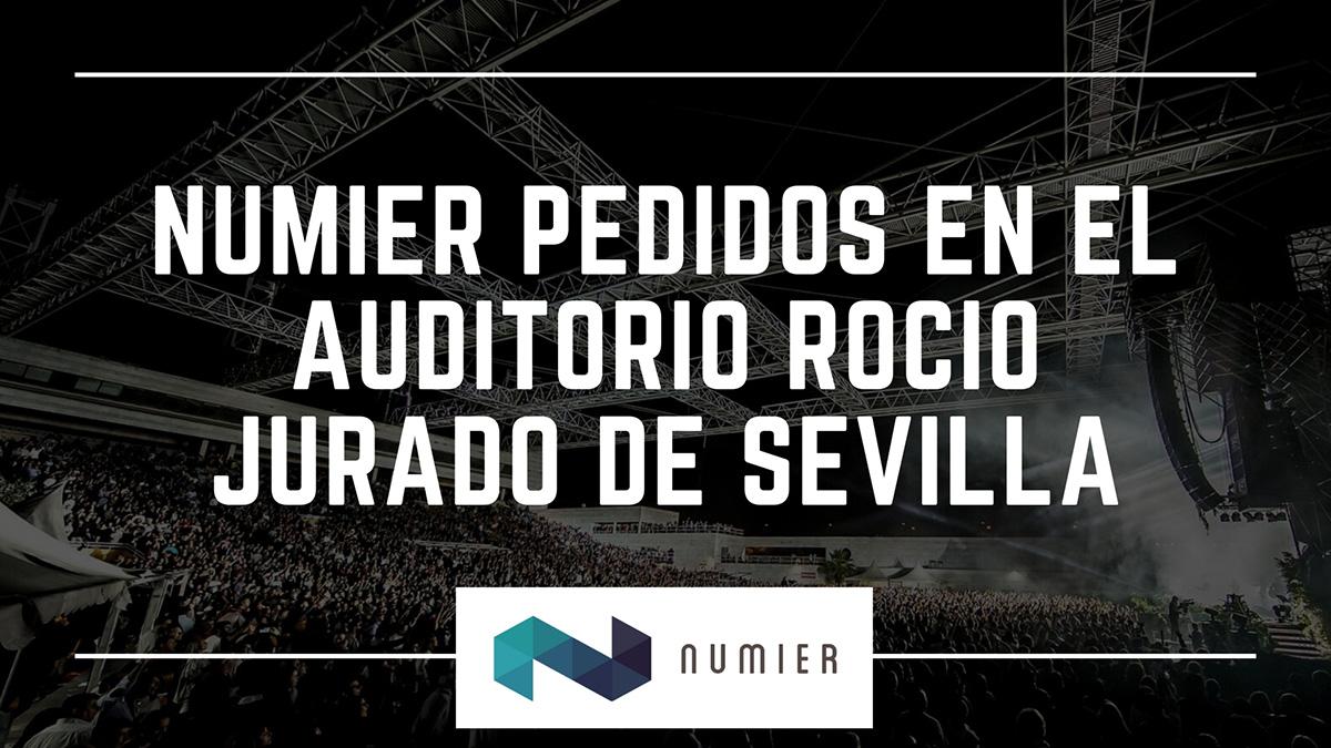Numier PEDIDOS desde las mesas y con pago con tarjeta durante el concierto del Auditorio Rocío Jurado